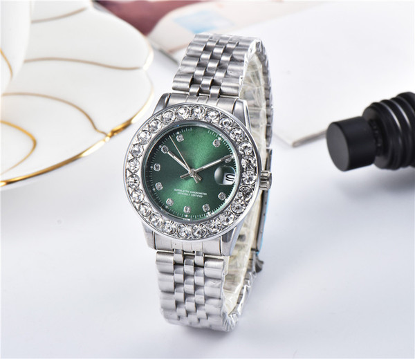 2019 luxury watch diamond Wristwatches fashion designer watches for womens watches Stainless steel chain iced out watch