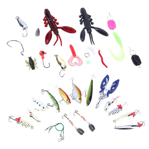 101pcs/box Fishing Lures Crankbaits Set Kit Soft and Hard Lure Baits Spinners Hooks Trout Bass Fishing Tackle Lure Accessories