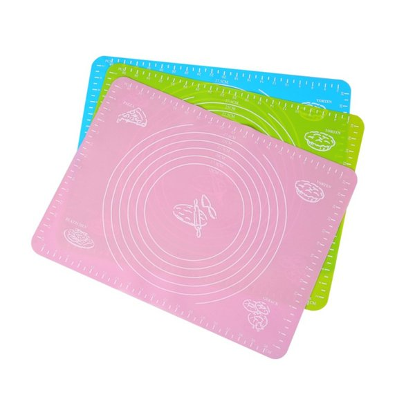 40cm*30cm Silicone Rolling Cut Mat Pastry board pad Sugarcraft Fondant Clay Pastry Icing Dough Cake Tool candy color Free shipping