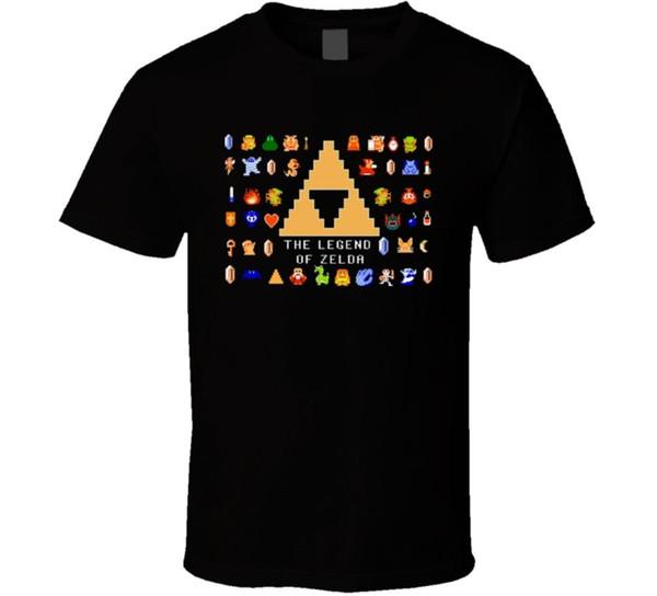 Zelda Video Game 8 Bit NES T Shirt Comfortable t shirt Casual Short Sleeve Print 100% Cotton