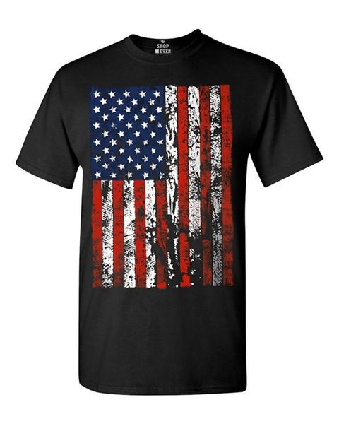 2018 Latest Fashion United States of America Flag T-shirt USA Flag Shirts Fashion Men T Shirt Clothing