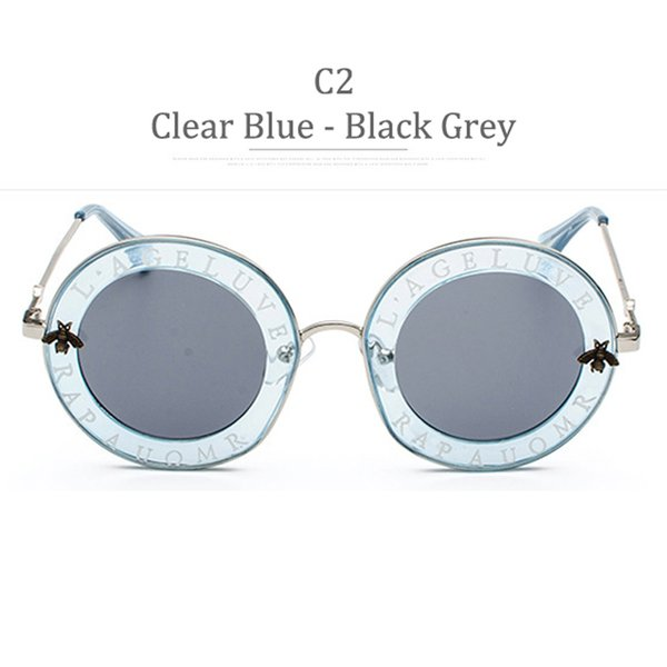 C2 Clear Blue Frame Grey Lens