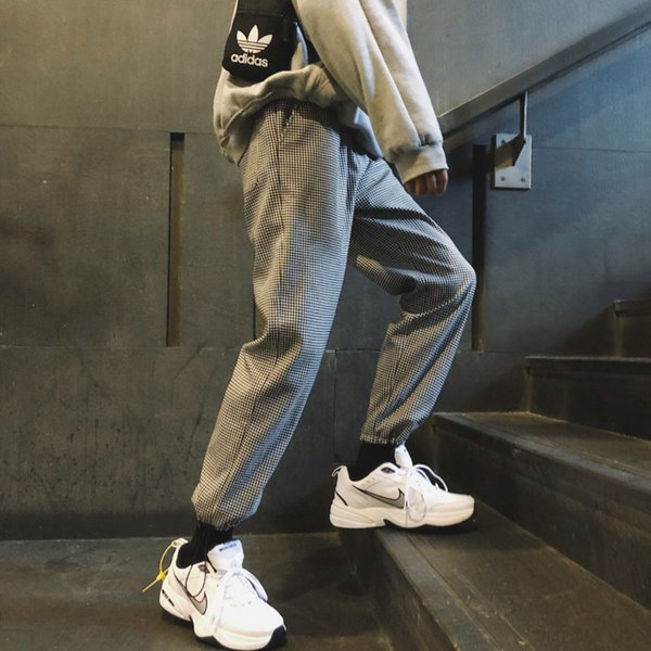 2018 Autumn New Men's Youth Fashion Casual Pants Temperament Personality Wild Cotton Polyester Solid Color Simple Trousers