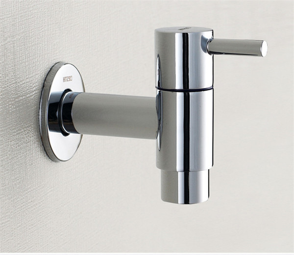 top popular Modern Fashion Garden 304 stainless steel Fast open faucet  Wall Mounted Taps  Bibcocks Cold Water Faucet  Mop Pool Taps 2019