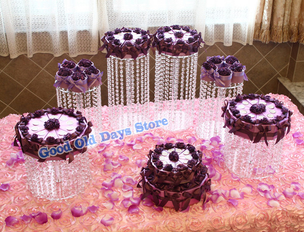 6pcs Luxury Birthday Valentine's Day gift table centerpiece wedding cake stand Party Cake Display Cake cupcake display