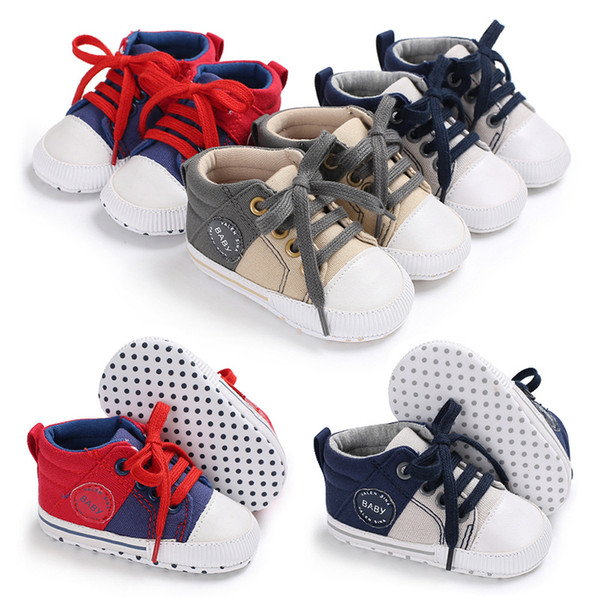 2018 New first walker toddler moccasins Casual baby shoes boys and girls soft sole canvas shoes hot sale infant baby gift 0-18M