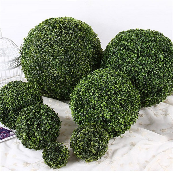 Artificiale Green Plastic Grass Ball Hanging Balls Craft Supplies Casa Giardino Festa di compleanno Decorazione di nozze Verde Pure Color 1 68rz bb
