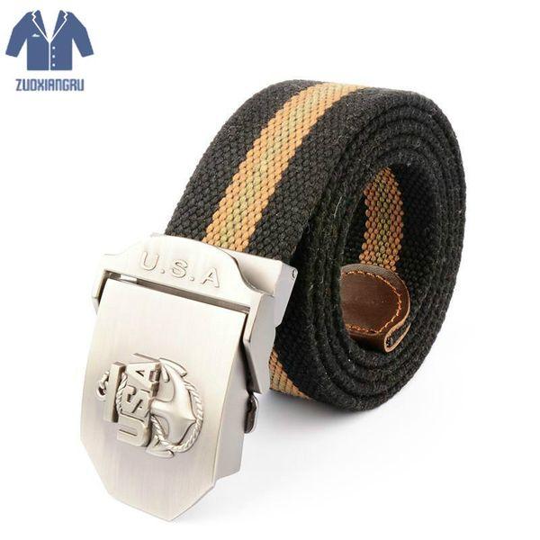Mens Belt USA Logo Tactical Belt Men  Men's Women Jeans Nylon Belts Ceinture Homme Cinto Masculino Cinturones Hombre