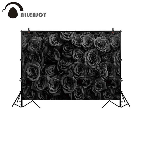 wholesale background for photo studio black rose flower love backdrop photography photocall photo shoot prop photobooth