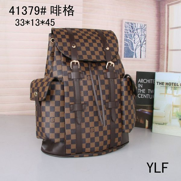 Free Shipping 2018 hot New Arrival Fashion men School Bags Hot Punk style Men Backpack designer Backpack PU Leather Lady Bags#41379