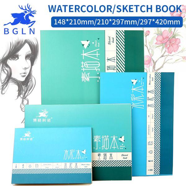 Bgln 1Pcs Acquerello professionale / Carta da disegno 16/32 fogli dipinti a mano con materiali creativi per la scuola