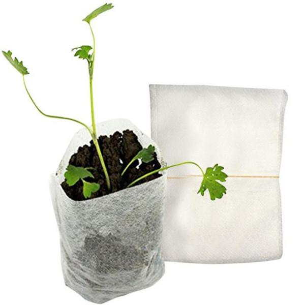 100pcs 8x10cm Non-Woven Nursery Bag Gardening Nursery Pots Flower Seedling Grow Bag Seedling Raising Bags Garden Supplies Jardin