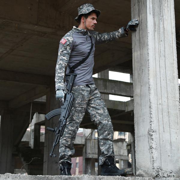 CCK Tactical Camouflage Uniform Clothes Suit Men US Army Multicam Hunting Combat Shirt + Cargo Pants
