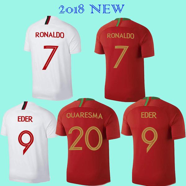 timeless design f58e1 263e5 2019 2018 CR7 Cristiano RONALDO 7 Soccer Jersey World Cup Jersey QUARESMA  PortuGaling NANI Football Shirts Camisa De Futebol Eder Jersey 2019 From ...