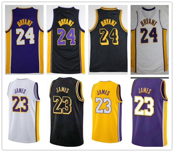 size 40 c6581 866df 2019 Los Angeles Lakers James City Edition Black Jersey 2018 New 23 LeBron  James 24 Kobe Bryant Basketball Jerseys Lakers Stitched Jersey S 3XL From  ...