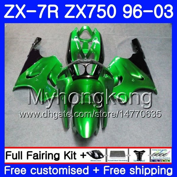 Перламутр зеленый новый для KAWASAKI NINJA ZX 7R ZX750 ZX7R 96 97 98 99 203HM.12 ZX-750 ZX 7 R ZX 750 ZX-7R 1996 1997 1998 1999 2003 обтекатель