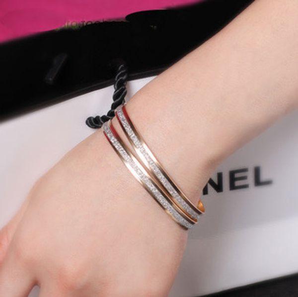 Commercio all'ingrosso squisito dei monili del braccialetto delle rose glassate doppio coreano di modo all'ingrosso