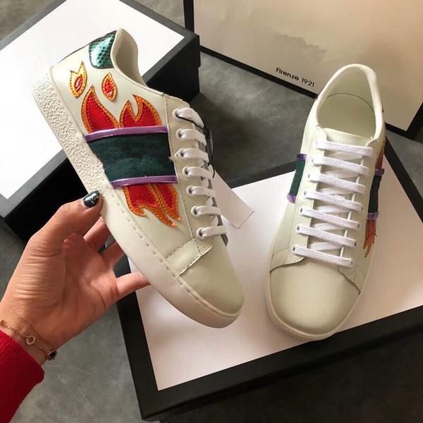 Designer Herren-Leder-Frauen Arena Marke Wohnungen Male Top Schuhe beiläufige Art und Weise schnüren sich oben Schuhe gc18062247