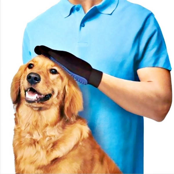 4 Colors Pet Hair Remover Glove Cat Dog Grooming Comb For Cat Dog Bath Cleaning Brush Massage Mitt Deshedding Gloves