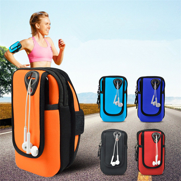 Universal Jogging Bags Armband Waterproof Sports Running Case Bag workout Armbands Holder Pouch For Samsung Cell Mobile Phone 5 Colors