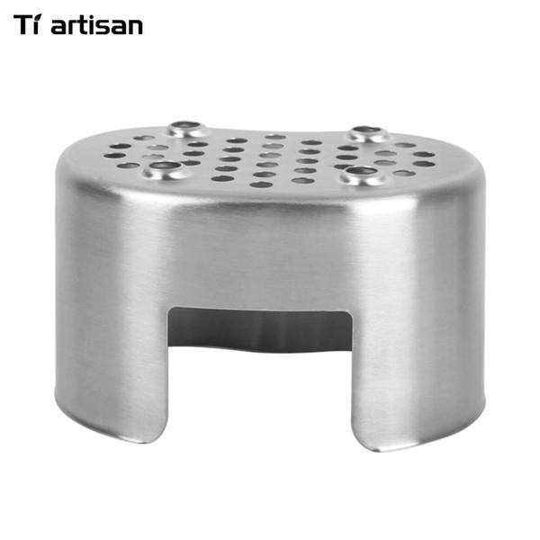 Tiartisan Bbq. Estufa de leña portátil de acero inoxidable ultraligero Leña WS032