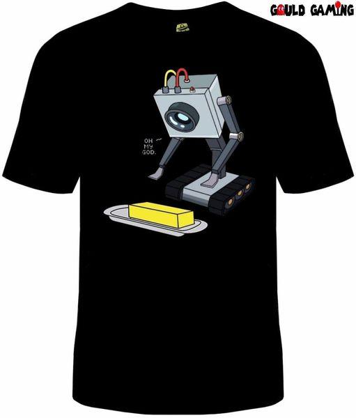 T-Shirt Robot Rick e Morty Butter T-Shirt unisex in cotone Gioco You Pass Butter