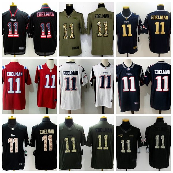 classic fit 4256f 0972a 2018 2018 2019 New Mens Patriots11 Julian Edelman Jerseys 100% Stitched  Embroidery White Red Navy Blue Camouflage Julian Edelman Football Jerseys  From ...