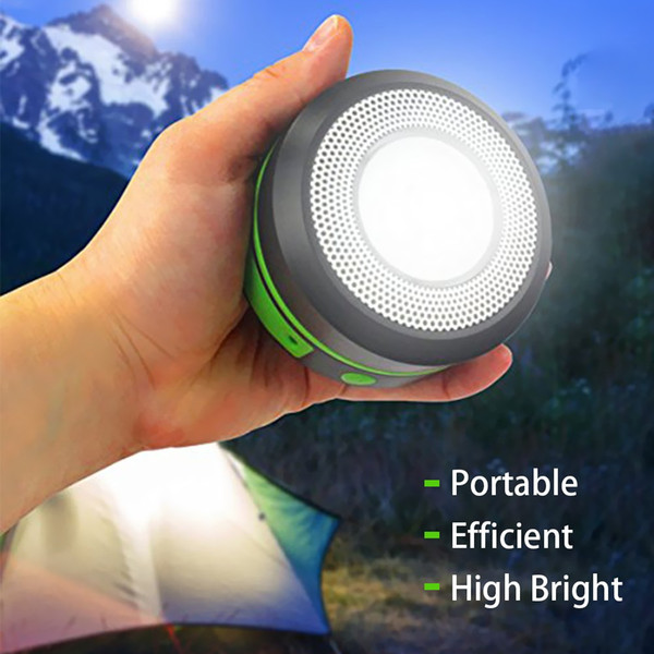Solar Powered USB Rechargeable LED Camping Lantern Light Portable camping Tent Lights Fishing Hiking Emergency