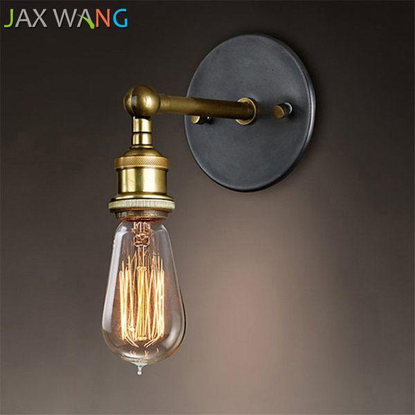 JW_Louis Poulsen Sconce Wall Lamps Vintage Loft Lights E27 Edison Bulb Plated Iron Retro Industrial Home Lighting Bedside Lamps