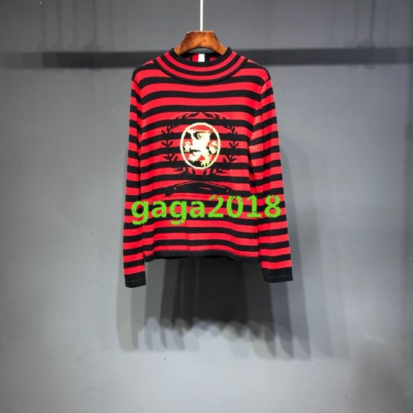 WOMEN'S Multicolor Pullover sweater t shirt knit letter jacquard sweater Silk cotton sweater with stripes Tshirt top blouse high end S-XL