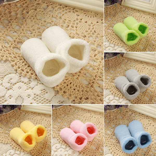 free shipping 2018 hot sale New 0-2 Year 1 pair Baby Girl Boy Newborn Baby Toddler Winter Warm boots Toddler Infant Soft Socks Booties shoes