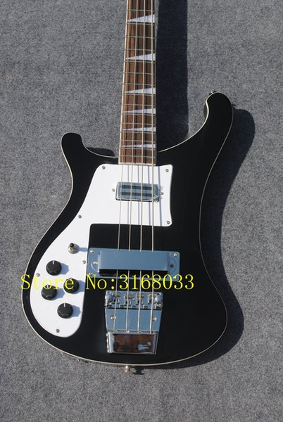 Newest china 4 String Electric Bass Guitar BLACK in left handed