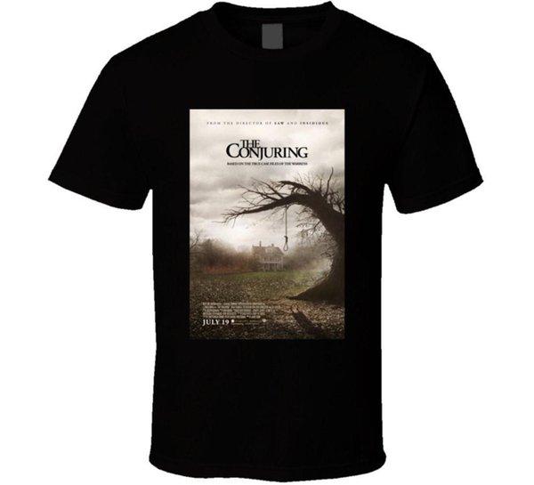 Заклятие Холодный Ужас Культовым Кино Плакат Вентилятор T Рубашка