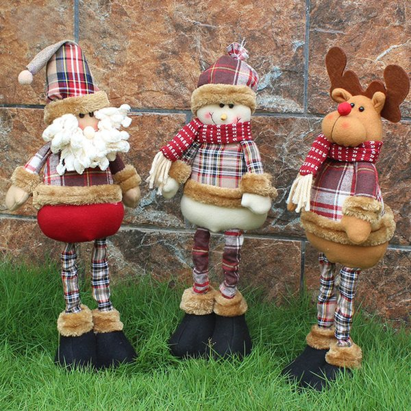 Christmas Gift Santa Claus Snowman Reindeer Doll navidad Christmas Decorations for Home Xmas Tree Hanging Ornaments Pendant Gift