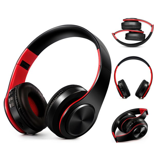 Wireless Bluetooth Headphones Foldable Stereo Bass Voice Headset Earphones with Mic for PC Mobile Phone Mp3 MP4 player