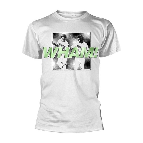 Wham George Michael Andrew Ridgeley erkend T-shirt voor mannen