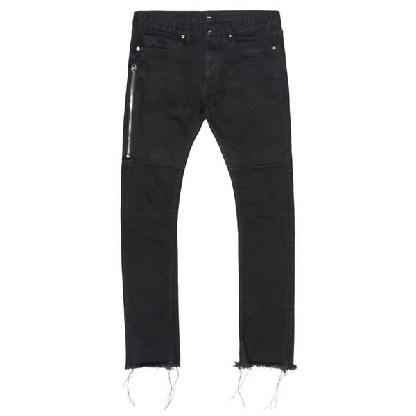 Fashion Casual Biker Hip Hop Men Jeans Pants with Zipper Denim Mens Black Jeans Size 29-36
