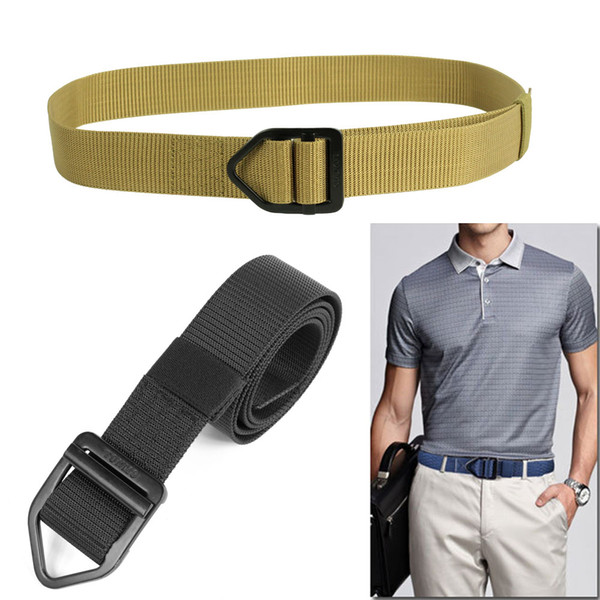 38mm Smooth metal Buckle Nylon Belt Male Tactical nylon Belt Mens Waist Canvas Belts High Quality Strap