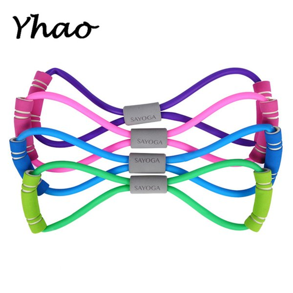 Yhao Women's Yoga Slimming Belt Yoga Latex Stretching Belt Fitness Chest Expander Free Shipping