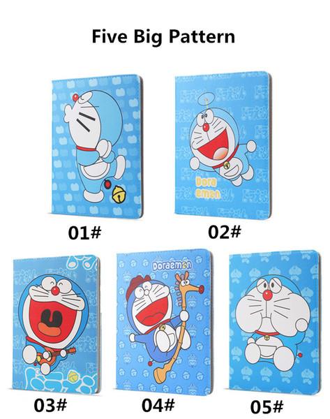 Per Apple iPad Mini 4 Custodia Cartoon Doraemon Stand Custodia Auto Sleep Wake Up per iPad air1 / air2 Pro 9.7 pollici 2017 Custodia Doraemon fumetto