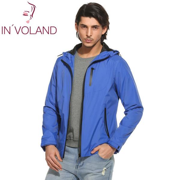 Zip Long Sport New Coat Sleeve Casual Color Short Windbreaker Mens Casual Contrast Jacket Outdoor Waterproof Hooded
