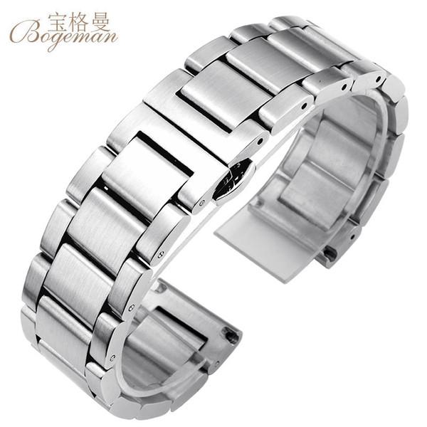 Apple watch 1/2/3/4 pulseira de relógio três contas de cinta de aço fino, masculino Apple iWatch inteligente cinta 38/42 mm