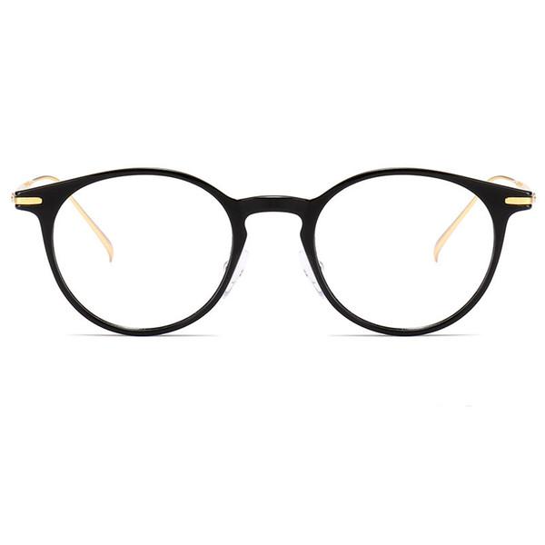 Uomo Occhiali da vista Occhiali tondi TR90 Plastica titanio Occhiali da vista con lenti graduate Miopia Occhiali montatura per occhiali