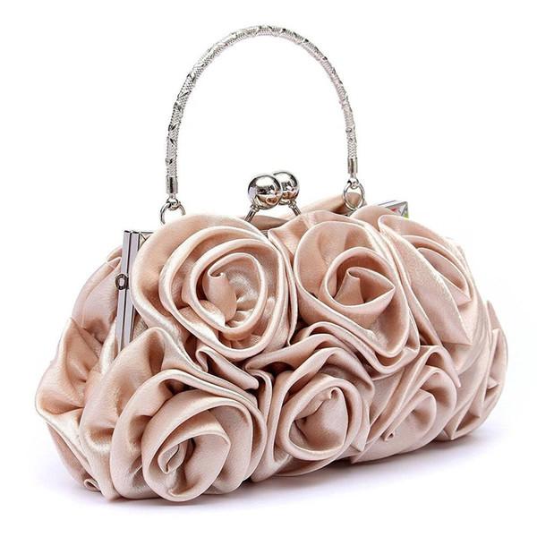 Großhandels-VSEN heiße Blumendamen-Handtasche-Frauen-Abend-Partei-Beutel-Abschlussball-Braut Diamante Baguette-Weiß