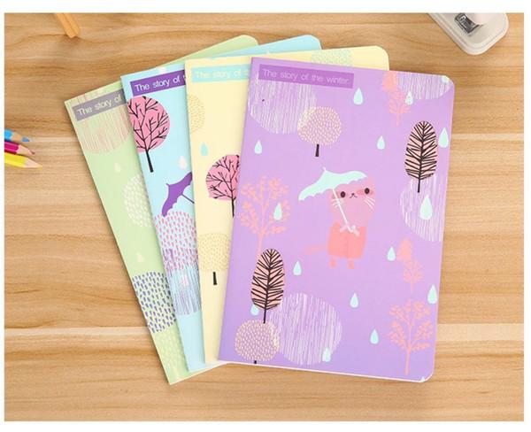 Nouveaux produits Kawaii Lonely Cat A5 voiture ligne étudiant bloc-notes doux cahier 30 pages coréen cadeau papeterie