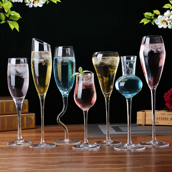Lead-free crystal goblet glass Many styles beer whiskey champagne cocktail drinkware light thin transparent exquisite cheap Cup