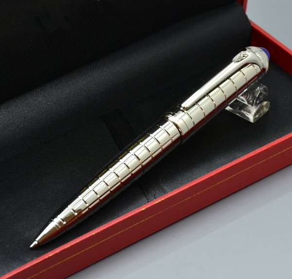 Beau Cute Office Gifts Coupons   Luxury Carties Brand Silver Metal Grid  Ballpoint Pen With High Quality