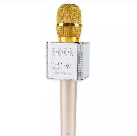 Q9 Bluetooth wireless Microphone Portable Handheld Wireless KTV Karaoke Player Dual Horns Loudspeaker Speaker