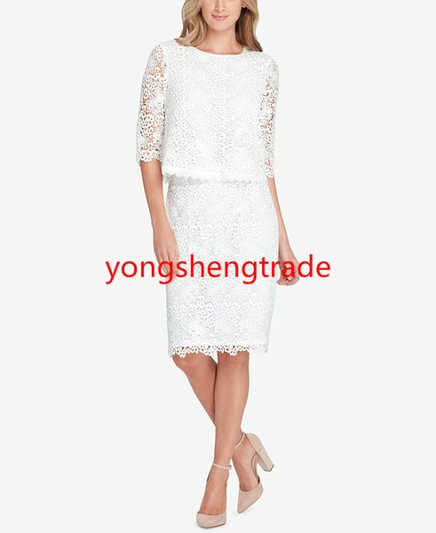 Luxurious lace to your professional look with a split back lace top and a lace pencil skirt Ivory Women Suit Perfect For Any Occasion