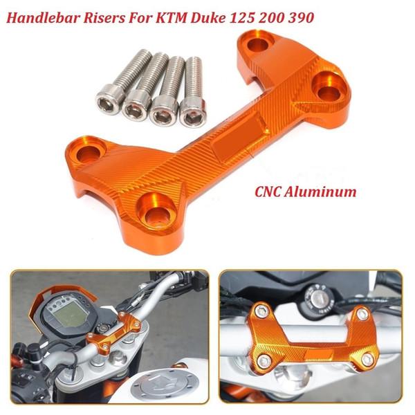 CNC Aluminum Handlebar Risers Top Cover Clamp Fit For Dirt Bike KTM DUKE 390 200 125